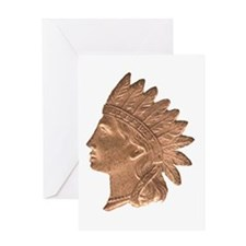 Indian Head Greeting Card