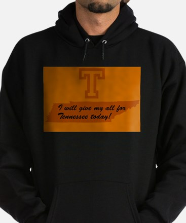 I will give my all Hoodie (dark)