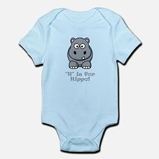 H is for Hippo! Infant Bodysuit