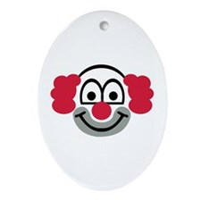 Clown face Ornament (Oval)