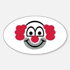 Clown face Sticker (Oval)