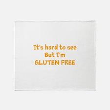 Hard to see, Gluten free Throw Blanket