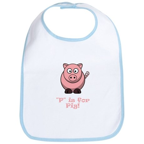 P is for Pig! Bib
