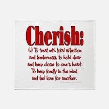 Cherish Definition Throw Blanket