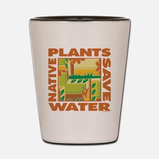 Native Plant Landscaping Shot Glass