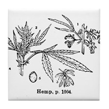 Hemp Tile Coaster
