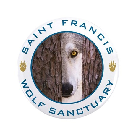 """SFWS Wolf In Pines 3.5"""" Button (100 pack)"""