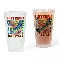 Butterfly Garden Drinking Glass