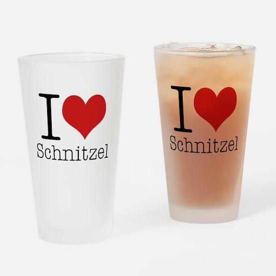 I {heart} Schnitzel Drinking Glass