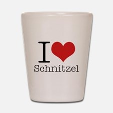 I {heart} Schnitzel Shot Glass