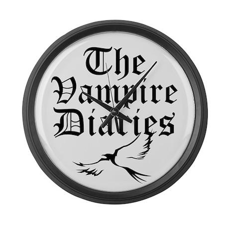 "Old English ""The Vampire Diar Large Wall Clock"