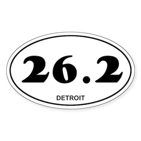 Detroit Marathon Sticker (Oval)