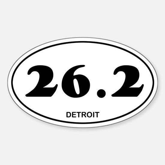 Detroit Marathon Sticker (Oval)