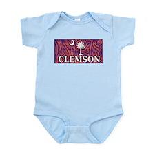 Clemson Tiger Print Flag Infant Bodysuit