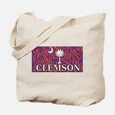 Clemson Tiger Print Flag Tote Bag
