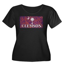 Clemson Tiger Print Flag T