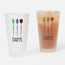 3 Darts Drinking Glass