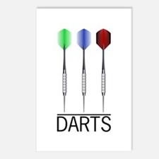 3 Darts Postcards (Package of 8)