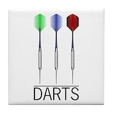 3 Darts Tile Coaster