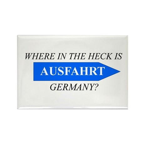 Where the Heck is Ausfahrt? Rectangle Magnet