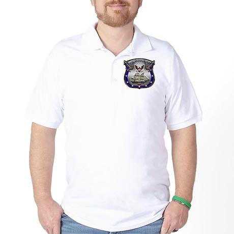 US Navy Shield and Eagle Golf Shirt
