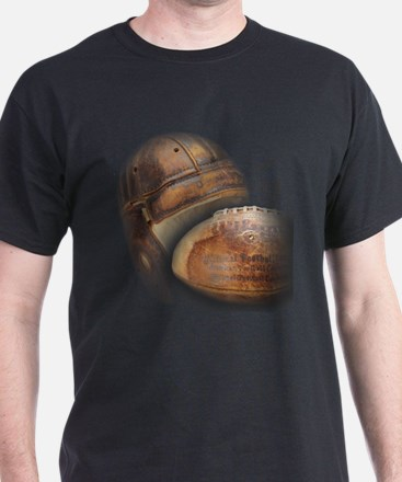 Vintage Football Helmet & Ball T-Shirt