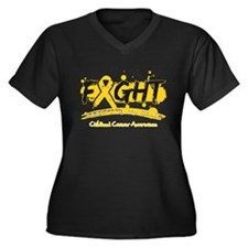 Fight Childhood Cancer Cause Women's Plus Size V-N
