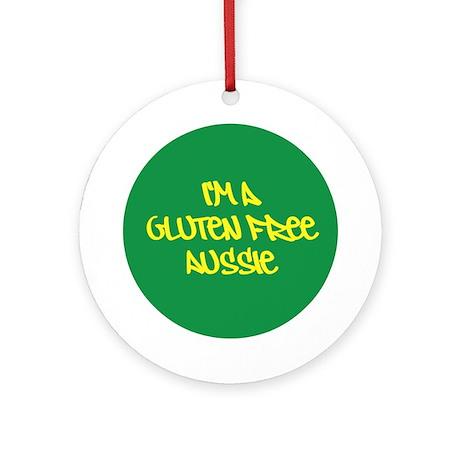 Gluten Free Aussie Ornament (Round)