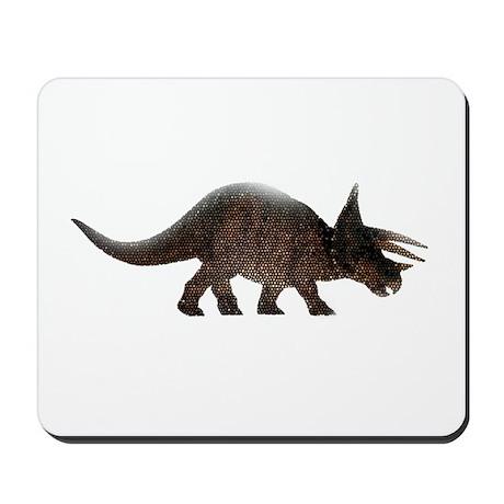 Tricerotops Art Mosaic Mousepad