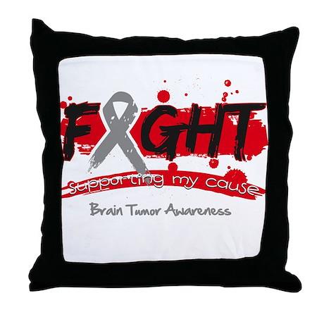 Fight Brain Tumor Cause Throw Pillow