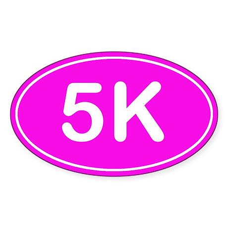 5K *pink* Sticker (Oval)