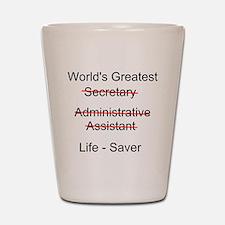 World's Greatest Secretary Shot Glass