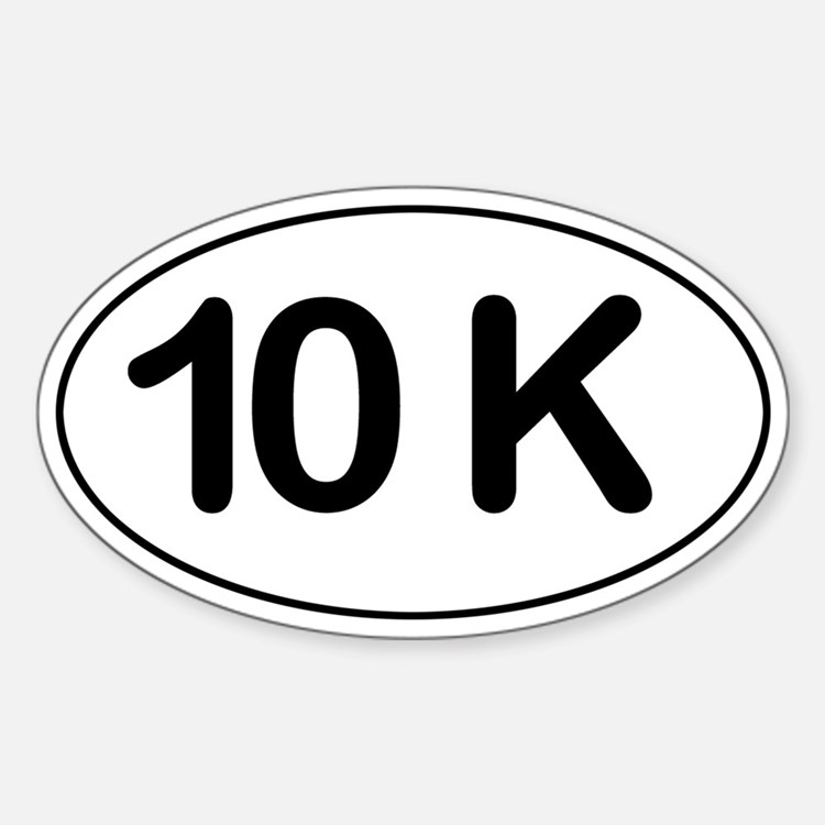 10K Sticker (Oval)