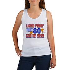 Cool 80 year old birthday design Women's Tank Top