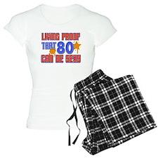 Cool 80 year old birthday design Pajamas