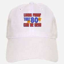 Cool 80 year old birthday design Baseball Baseball Cap