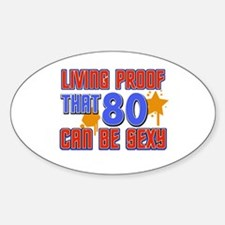 Cool 80 year old birthday design Decal