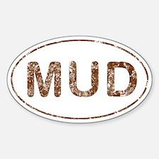 Mud Run Sticker (Oval 10 pk)