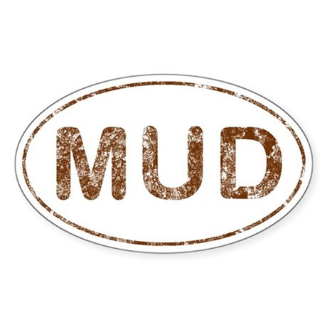 Mud Run Sticker (Oval)