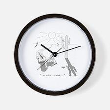 Comic Book Desert Wall Clock
