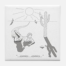 Comic Book Desert Tile Coaster
