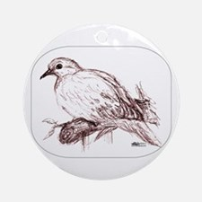 Baby Mourning Dove Ornament (Round)