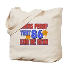 Cool 86 year old birthday design Tote Bag
