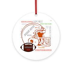 OYOOS Football Sports design Ornament (Round)