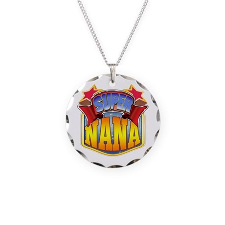 Super Nana Necklace Circle Charm