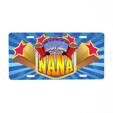 Super Nana Aluminum License Plate