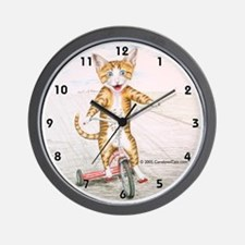 Kitten on Tricycle Wall Clock