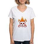 NO NUKES! Women's V-Neck T-Shirt