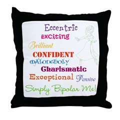 Simply Bipolar Me Throw Pillow