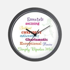 Simply Bipolar Me Wall Clock